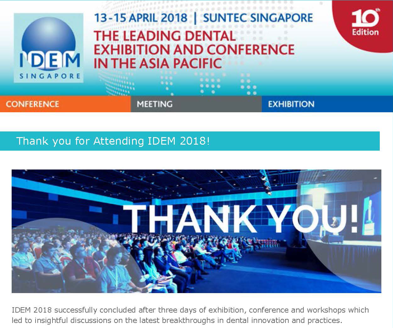 Thank you for attending IDEM 2018 - News