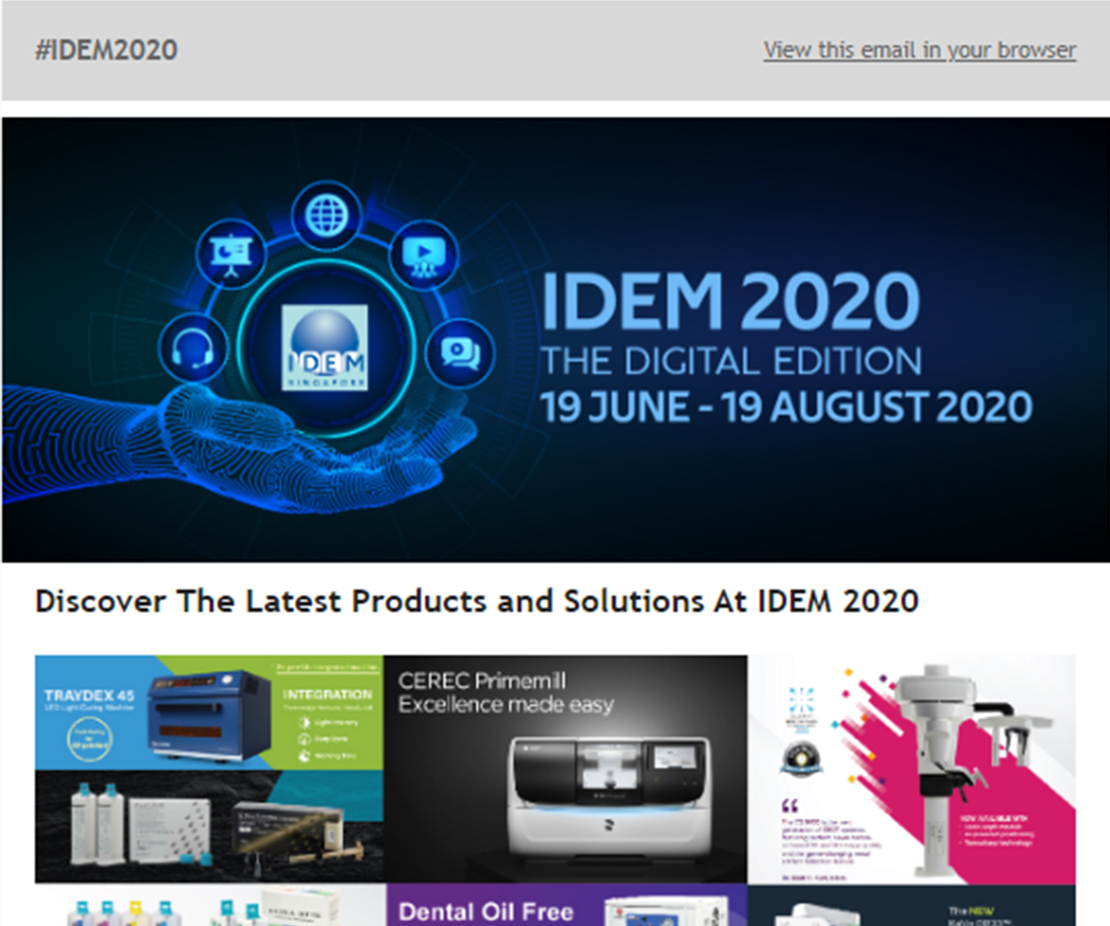 IDEM 2020 Digital newsletter 4 - News