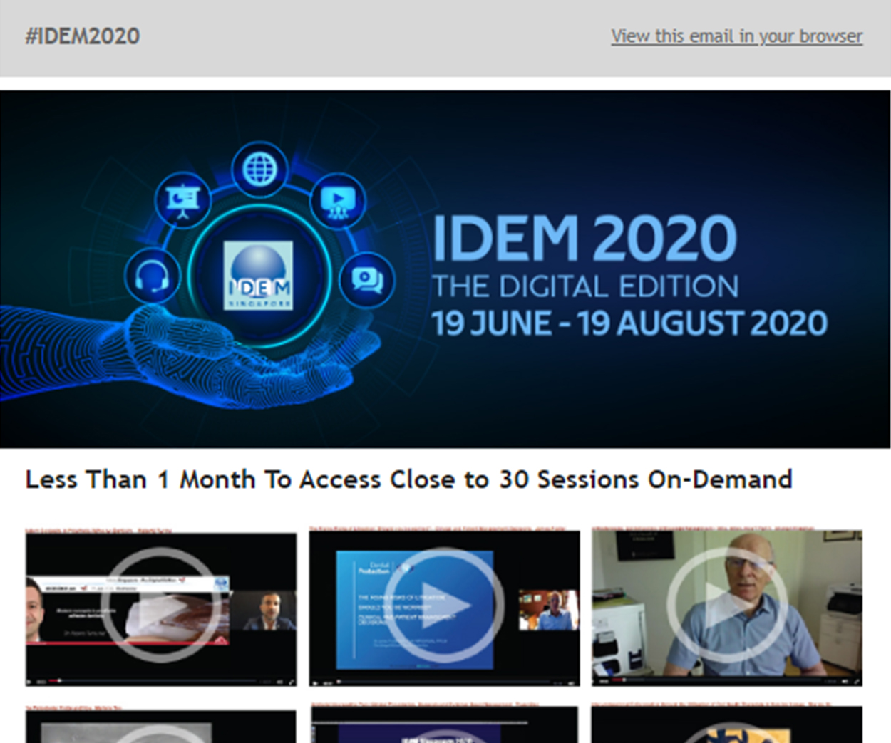 IDEM 2020 digital 6 - News