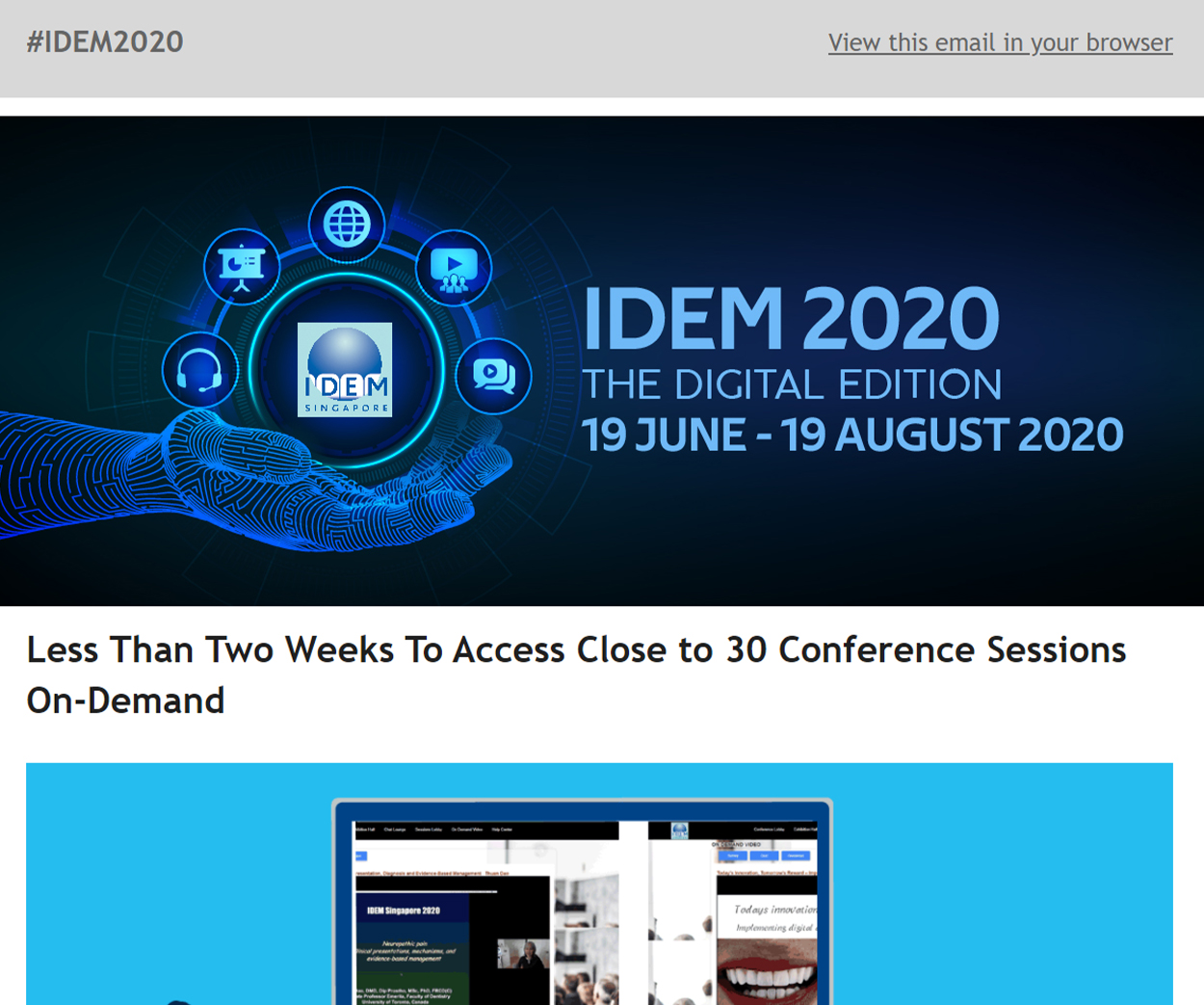 IDEM Newsletter 6A - News