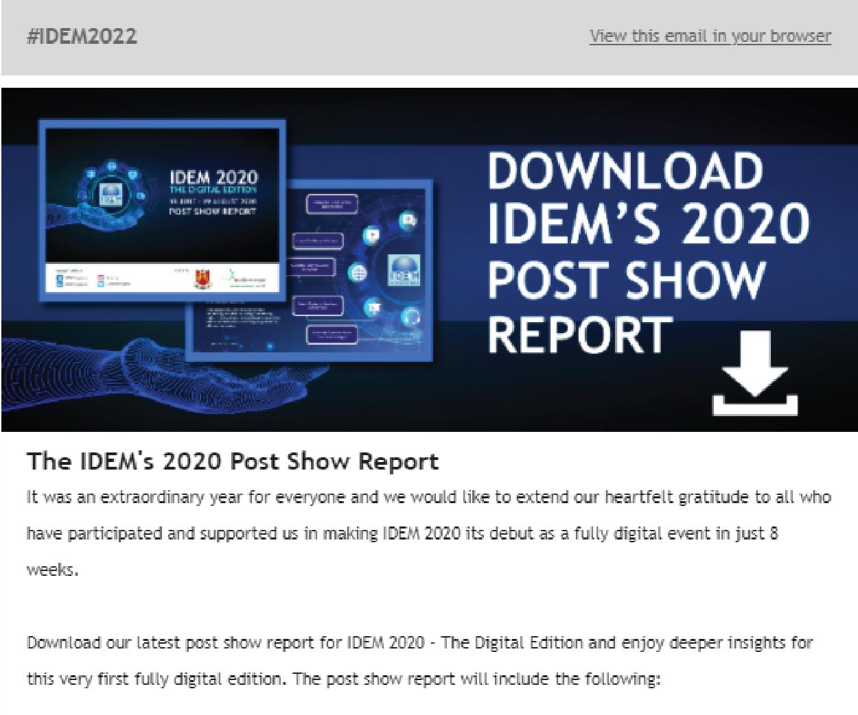 IDEM 2020 Newsletter PSR 01 - Press